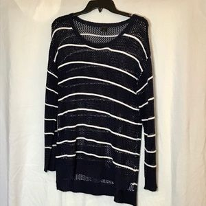 Madison Lilly Striped Pullover Sweater.